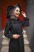 Fırfırlı Aerobin Elbise - Siyah