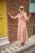 Fırfırlı Aerobin Elbise - Pudra