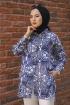 Desenli Yazlık Tunik - Mavi