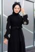 Yıldız Nakış Detaylı Elbise - Siyah