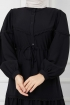 Eteği Dantelli Elbise - Siyah