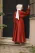 Kobe Saten Elbise - Kiremit
