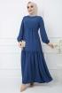 Tünelli Elbise - Mavi