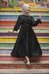 Kobe Saten Elbise - Siyah