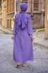 Fırfırlı Sultan Elbise - Lila