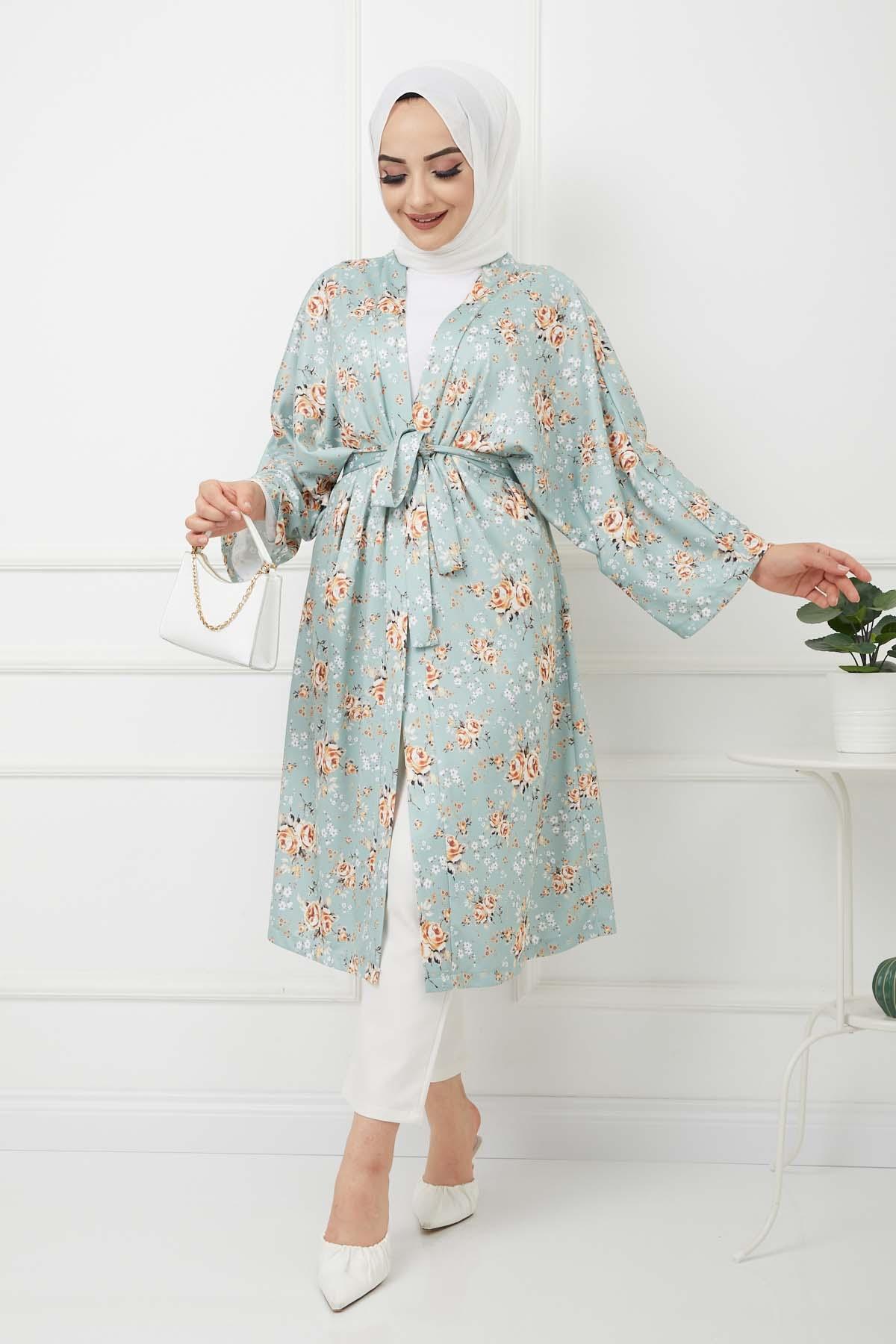 Kimono Kap - Yeşil