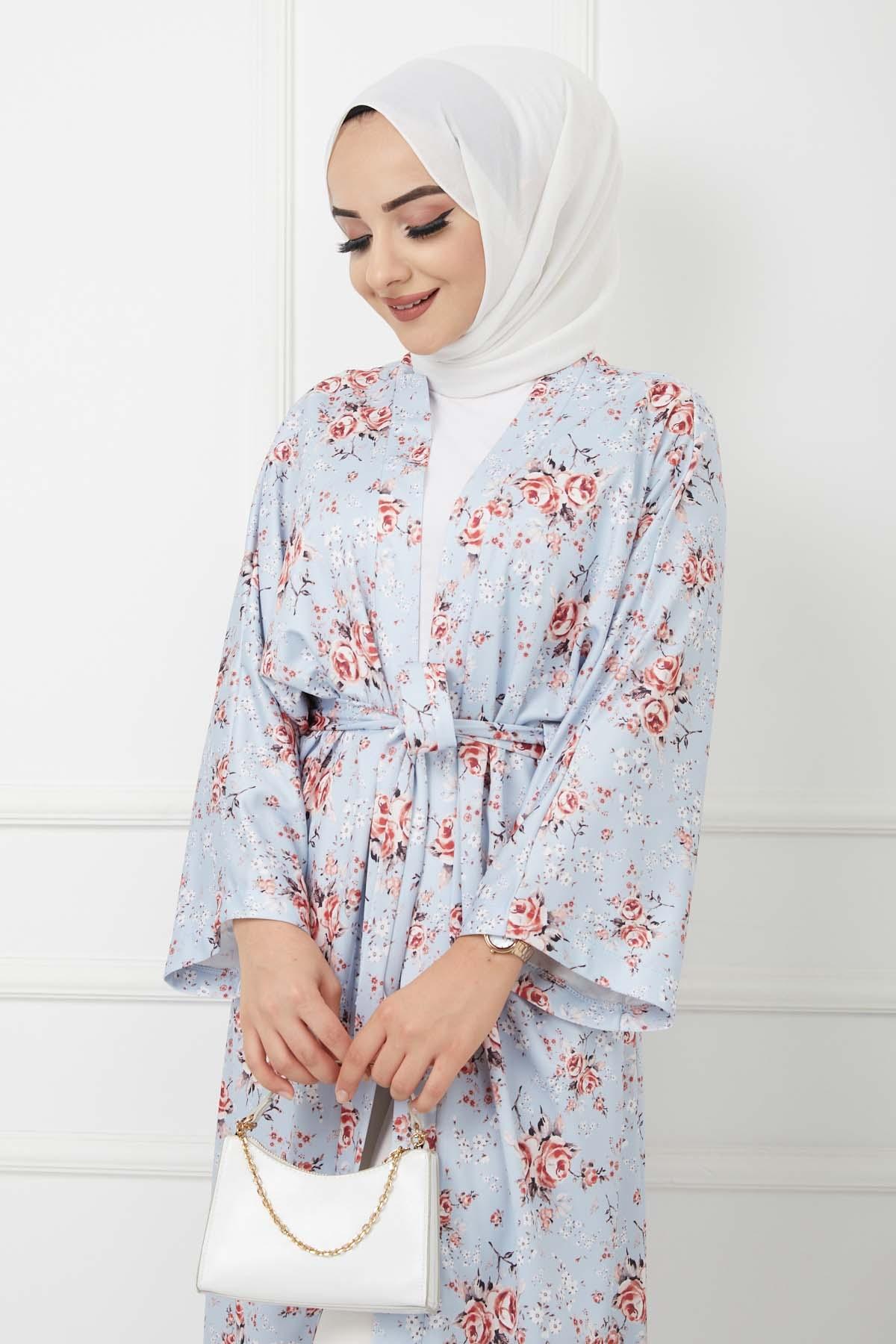 Kimono Kap - Mavi