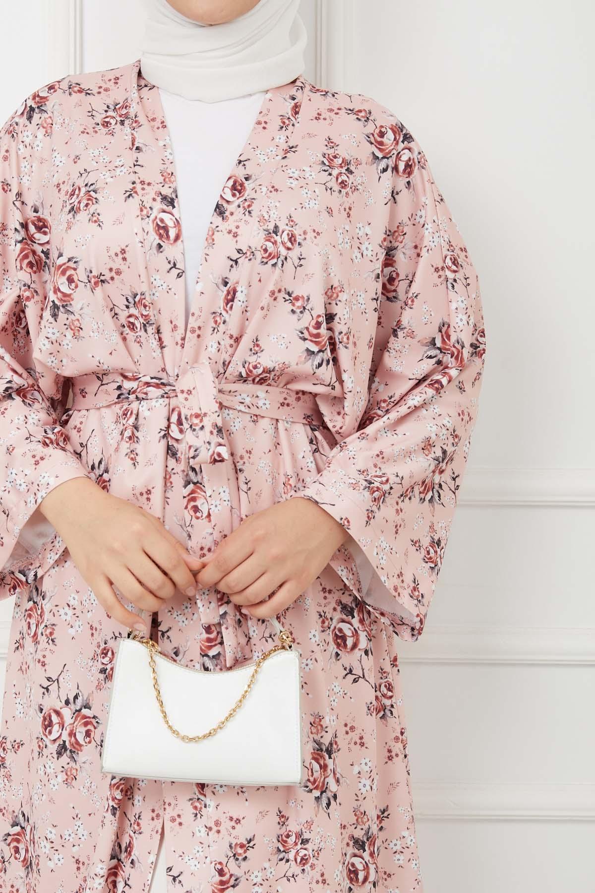 Kimono Kap - Pembe