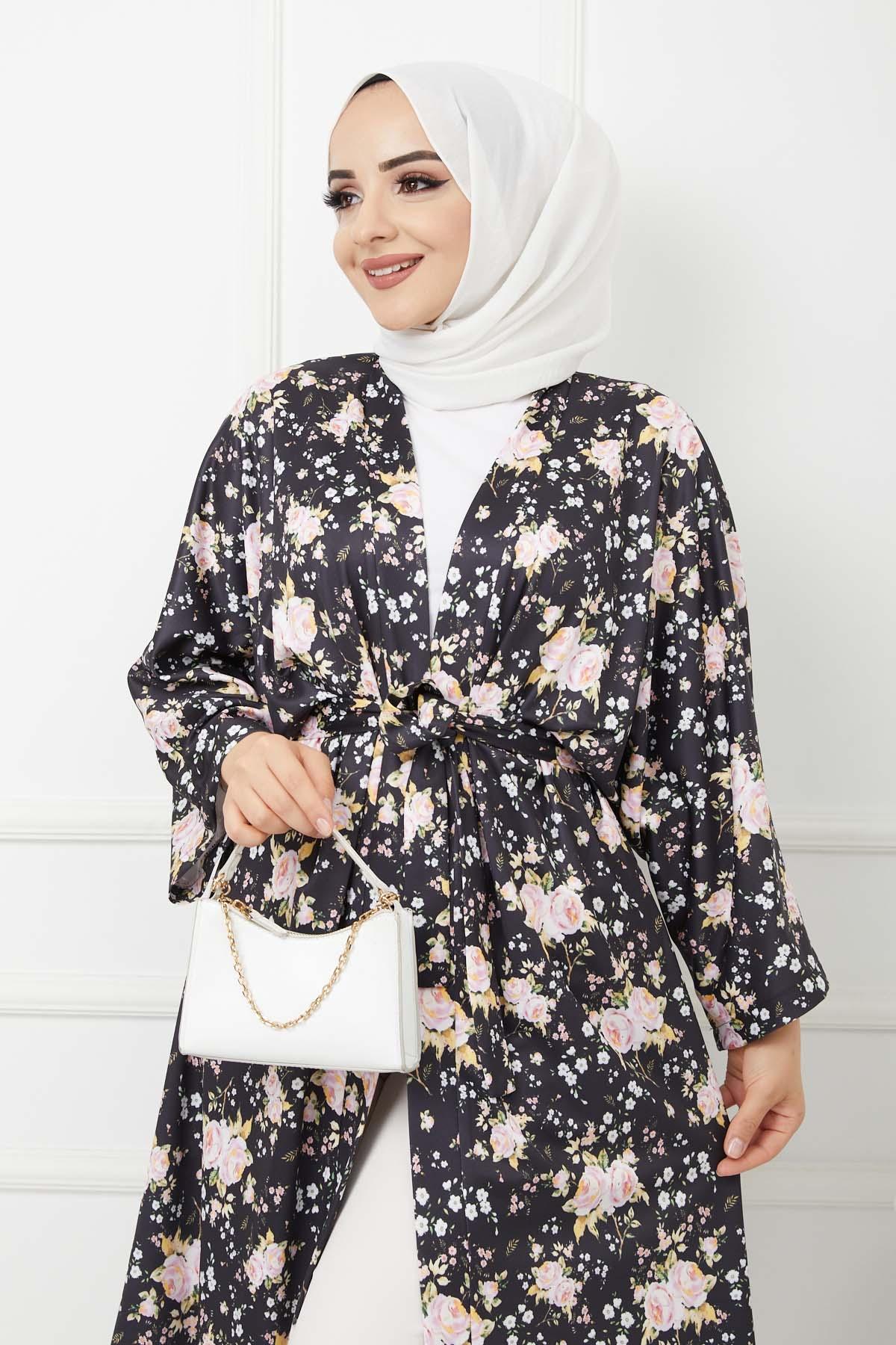 Kimono Kap - Siyah