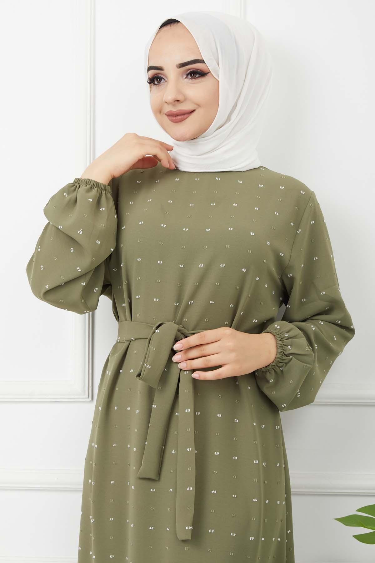 Yıldız Elbise - Yeşil