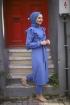 Yırtmaçlı Takım - İndigo Mavisi