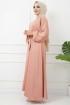 Ayrobin Saten Elbise 4626 - Mercan