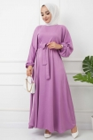 Ayrobin Saten Elbise 4626 - Lila