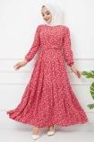 Esra Elbise 4628 - Kırmızı