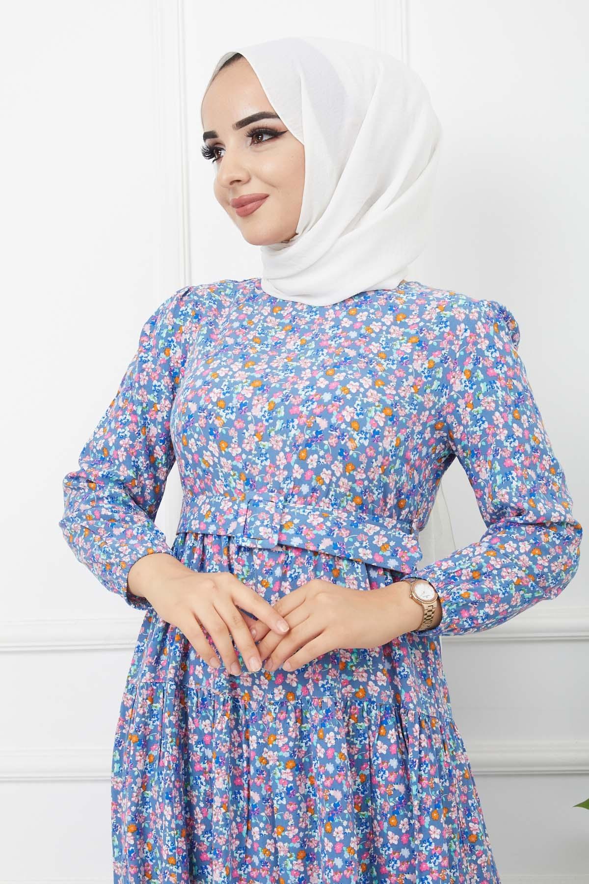 Esra Elbise 4628 - İndigo
