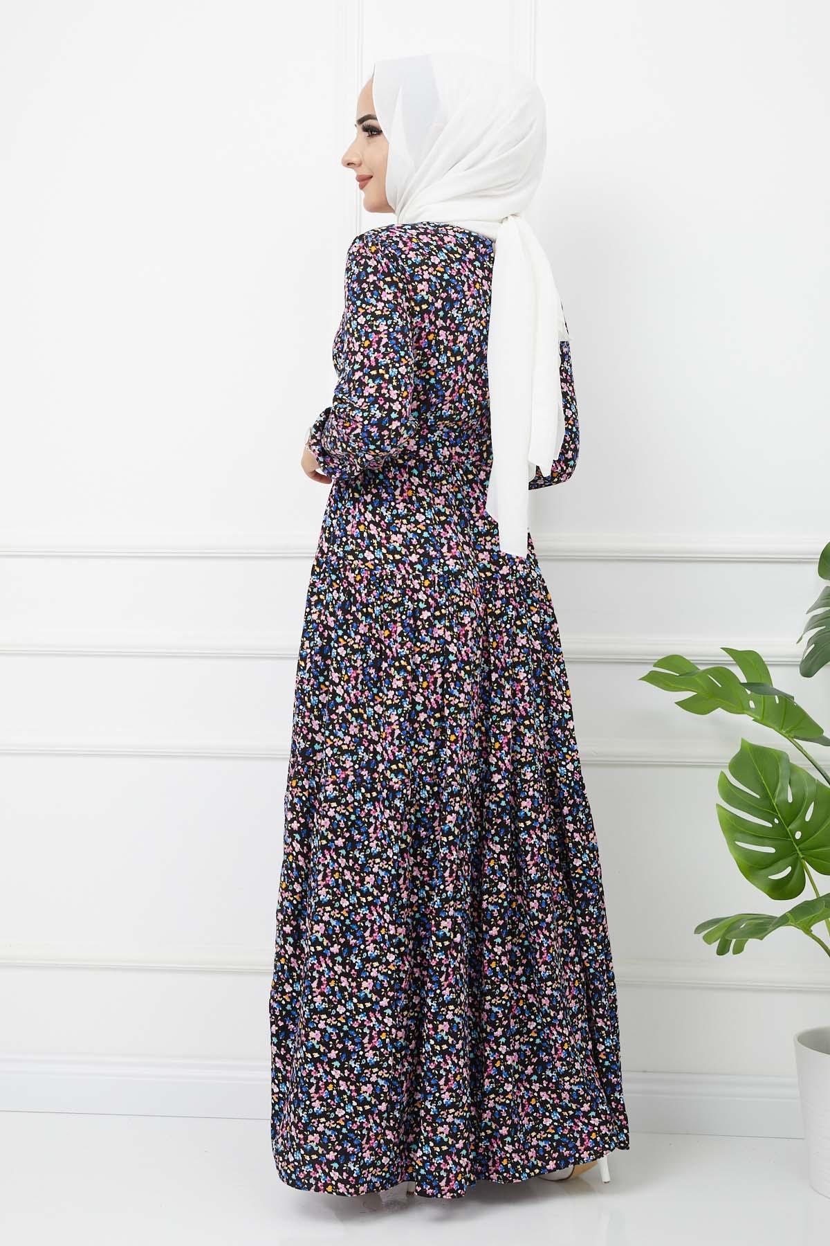 Esra Elbise 4628 - Siyah