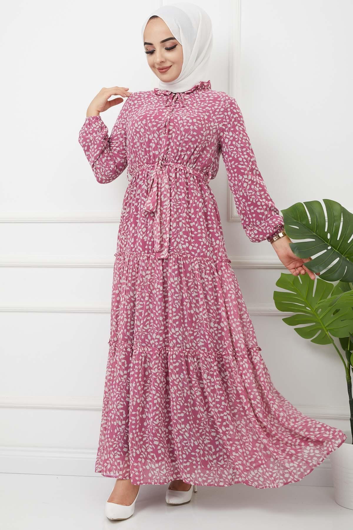 Nur Elbise 4609 - Mürdüm