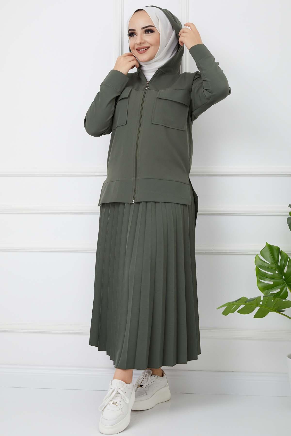 Soley İkili Takım 7022 - Haki Yeşili